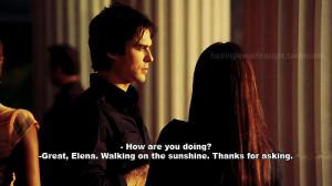 damon, elena, quote, sarcastic, vampire diaries