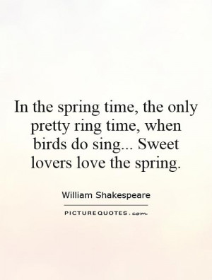 quotes about spring by william shakespeare vector