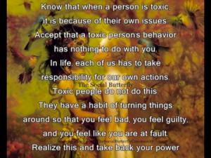 Avoid toxic people