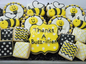 Bumble Bee Thank You Cookies