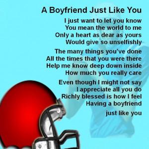 ... Coaster - Boyfriend Poem - American Football + FREE GIFT BOX