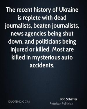 The recent history of Ukraine is replete with dead journalists, beaten ...