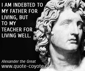 alexander the great death quote
