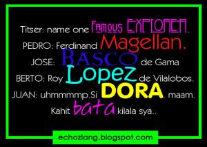 Name One Famous explorer | Dora The Explorer