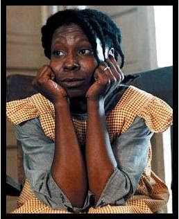 Whoopi Goldberg as Celie Johnson, in The Color Purple