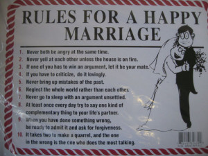 rules for a happy marriage quotes