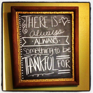 Thanksgiving chalkboard quote