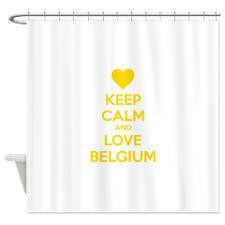 Keep calm and love Belgium Shower Curtain for