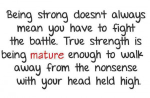 Funny Drama Quotes   funny drama quotessweetly Being strong doesn't ...