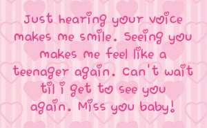 teenager again can t wait til i get to see you again miss you baby