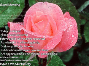 Good Morning Sunday. 8 Beautiful Inspiring Quotes for the day