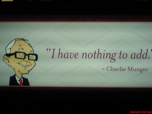 Charlie Munger quote at Berkshire Hathaway Annual Meeting (via TEDizen ...