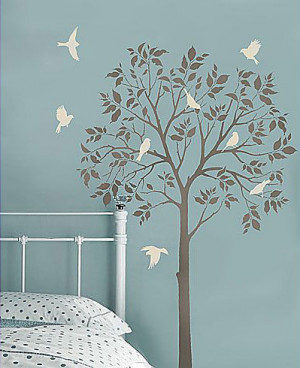 Large Family Tree Wall Stencil The tree stencils would be