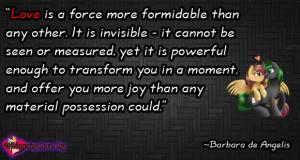 ... invisible , seen , measured, joy, you, possession , Barbara de Angelis
