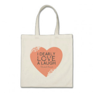 Dearly Love A Laugh - Jane Austen Quote Budget Tote Bag