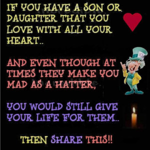 Giving Your Life for Your Children Inspirational Quote