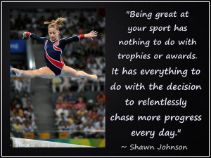 Shawn Johnson Olympic Gymnast Photo Quote Mini Poster Wall Art Print ...