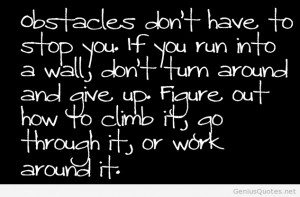 Obstacles in life with quotes