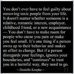 Removing toxic people