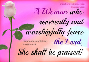 ... bible verses, scriptures for a lady who fears God, Lord. Free images