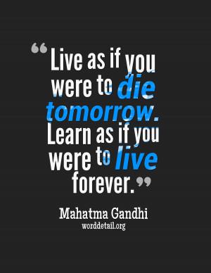 Mahatma Gandhi Quote Poster 001
