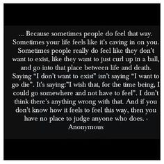 This hit home...it really did. Amazing quote, especially for anyone ...