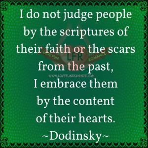 ... people by the scriptures of their faith or the scars from the past