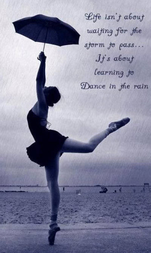 Passion for dancing Dance in the rain