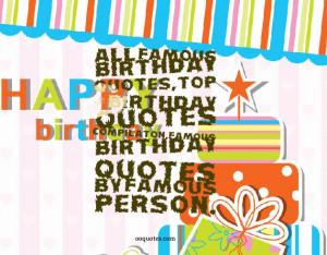 birthday quotes,top 40 birthday quotes compilaton,famous birthday ...