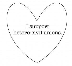 Support Hetero-Civil Unions
