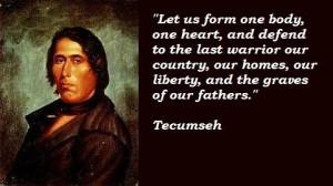 Tecumseh famous quotes 2