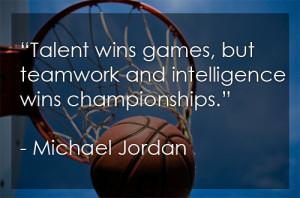 Michael Jordan Quote on Winning and Team Work