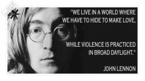 Violence is practiced in broad daylight quote