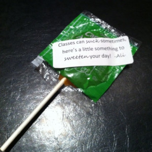 Love quotes using candy