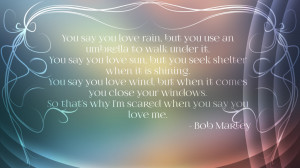 Bob Marley Quote Wallpaper by maryjuana90