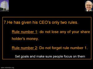 Warren Buffett - Policies