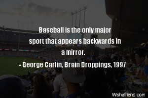 baseball-Baseball is the only major sport that appears backwards in a ...