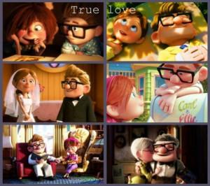 Couple Disney Lovers True Love Up