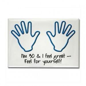 30Th Birthday Sayings Magnet Buy 30Th Birthday Sayings Fridge