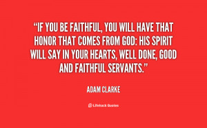 Be Faithful to God Quotes