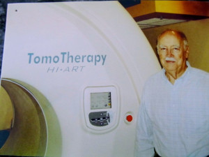 My Dad on his last day of radiation therapy at Moffitt. His name is ...