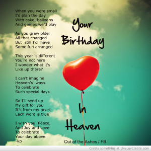 happy birthday to someone in heaven