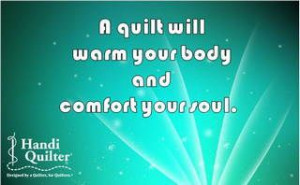 quilt will warm your body and comfort your soul. #handiquilter