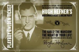 Hugh Hefner goes Willy Wonka for December Playboy