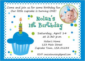 ... Nursery: Sweet Little Cupcake Boy Birthday - Baby's First Birthday