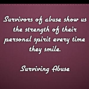 Survivor, abuse, quote