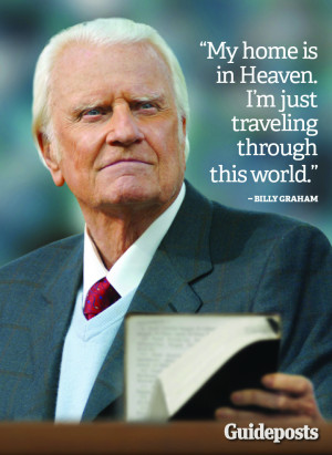 Billy Graham Quote Home Is Heaven