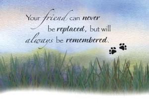 Grassy Prairie Pet Sympathy Card