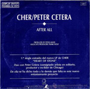 VINILO 7 39 CHER amp PETER CETERA 39 AFTER ALL 39 DE 1979 DISCOGRAFIA