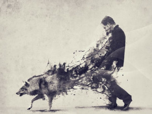 the wolf is stronger than restraint...